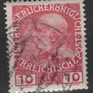 Austria 1908/13 - Scott 115 used - 10h, Franz Josef  (red544)
