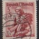 Austria 1948/52  -  Scott 551  used  -  3s,  Austrian Costumes, Burgenland (8-760)