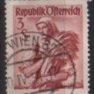 Austria 1948/52  -  Scott 551  used  -  3s,  Austrian Costumes, Burgenland (8-760)