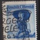 Austria 1948/52  -  Scott 537  used  -  1s,  Austrian Costumes, Tyrol (8-745)