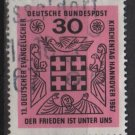 "Germany 1967 - Scott 972 used - 30pf, ""peace is Among Us"", Protestant meeting (9-349)"