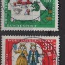 GERMANY semi-postal 1967 -Scott #B418-B421 (4) used - Tale, The princess & the Frog (9-364)