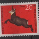 Germany semi postal 1966 -Scott B413 MNH - 20 + 10 pf, Animals, Chamois (9-392)