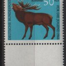 Germany semi postal 1966 -Scott  B415 MNH - 50 + 25 pf, Animals, Red Deer  (9-388)