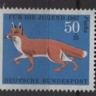 Germany semi postal 1967 - Scott B425 MNH - 50 + 25 pf, Animals type of ´66, Red Fox  (9-386)