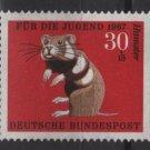Germany semi postal 1967 - Scott B424 MNH - 30 + 15 pf, Animals type of ´66, hamster  (9-384)