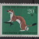 Germany semi postal 1967 - Scott B423 MNH - 20 + 10 pf, Animals type of ´66, Ermine  (9-382)
