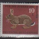 Germany semi postal 1967 - Scott B422 MNH - 10 + 5 pf, Animals type of '66, Rabbit  (9-380)