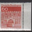 Germany 1966/69 - Scott 944 MNH - 60 pf, Treptow Gate, Neubrandenburg (9-375)