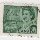 CANADA 1971 - Scott 549 , coil - Elizabeth II, Transportation means    (o-325)