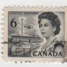 CANADA 1967 - Scott 460 used - 6c Queen Elizabeth II , Transportation means  (P-199)