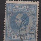 Netherlands 1872 - Scott 23 used - 5c, William III    (8-396)