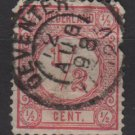 Netherlands 1876 - Scott 34 used - 1/2c, Numeral   (8-400)