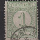 Netherlands 1876 - Scott 35 used - 1c, Numeral    (8-501)