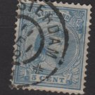 Netherlands 1891-94 issue - Scott  41 used - 5c, Princess Wilhelmina   (8-504)