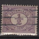 Netherlands 1898 - Scott 55 used - 1/2c, Numeral  (8-505)