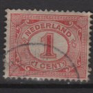 Netherlands 1898 - Scott 56 used - 1c, Numeral  (8-508)