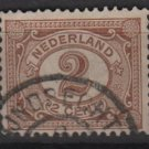 Netherlands 1898 - Scott 59 used - 2c, Numeral  (9-457)