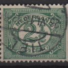 Netherlands 1898-1924 - Scott 60 used - 2.1/2c,   Numeral  (9-458)