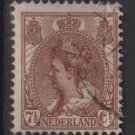 Netherlands 1898 - Scott 66 used - 7.1/2c, Queen Wilhelmina   (9-462)