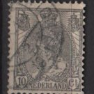 Netherlands 1898 - Scott 67 used - 10c, Queen Wilhelmina   (9-463)