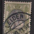 Netherlands 1898 – Scott 75 used – 20c, Queen Wilhelmina  (9-468)
