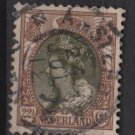 Netherlands 1898 – Scott 76 used – 22.1/2c, Queen Wilhelmina (9-471)