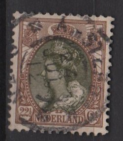 Netherlands 1898 � Scott 76 used � 22.1/2c, Queen Wilhelmina (9-471)