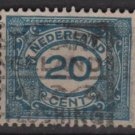 Netherlands 1921 - Scott 109 used - 20c, Numeral  (9-479)