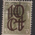 Netherlands 1923 - - Scott  119 used – 10c on 3c,  Overprinted issue  (9-483)