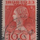 Netherlands 1923  - Scott  127 used  - 10c, queen Wilhelmina (9-486)