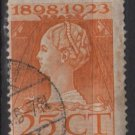 Netherlands 1923  - Scott  129 used  - 25c, Queen Wilhelmina (9-487)