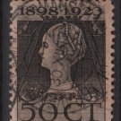 Netherlands 1923 - Scott 131 used - 50c, Queen Wilhelmina  (9-490)