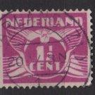 Netherlands 1926/39  - Scott  166 used -  1.1/2c, Gull  (9-497)