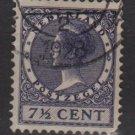 Netherlands 1926 - Scott 174 used - 7.1/2c, Queen Wilhelmina  (9-502)