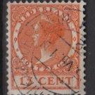 Netherlands 1926 - Scott 182 used - 15c, Queen Wilhelmina (9-510)