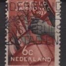 Netherlands 1937- Scott 207 used - 6c, Boy Scout Jamboree (9-521)