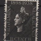 Netherlands 1938 - Scott 209 used – 1.1/2c,  Queen Wilhelmina (9-523)