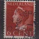 NETHERLANDS 1940/47 -  Scott  216b used -5c,  Queen Wilhelmina (9-528)