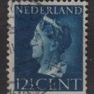 NETHERLANDS 1940/47 -  Scott  219 used – 12.1/2c,  Queen Wilhelmina  (9-532)