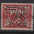 NETHERLANDS 1940 -  Scott  228 used  – 7.1/2c on 3c, Gull type of´ 24/26  surcharged (9-551)