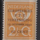 Netherlands 1943 - Scott 244 MNH – 2.1/2c, Post Horn & Lion overprinted   (9-559)