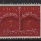Netherlands 1943/1944 - Scott 249 used - 3c, Tree with snake roots   (9-563)