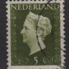 NETHERLANDS 1947/48 - Scott  286 used - 5c,  Queen Wilhelmina (9-585)