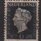 NETHERLANDS 1947/48 - Scott  287 used - 6c,  Queen Wilhelmina (9-586)