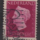 NETHERLANDS 1947/48 - Scott  289 used - 10c,  Queen Wilhelmina (9-589)