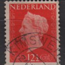 Netherlands 1947/48 - Scott 290 used - 12.1/2c, Queen Wilhelmina   (9-590)