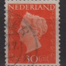 NETHERLANDS 1947/48 - Scott 295 used - 30c, Queen Wilhelmina  (9-597)