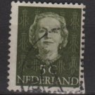 NETHERLANDS 1949 - Scott 306 used - 5c, Queen Juliana  (9-607)