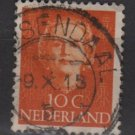 NETHERLANDS 1949 - Scott 308 used - 10c, , Queen Juliana (9-609)